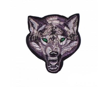 Antsiuvas medžiaginis Wolf Big; 13.5x16cm