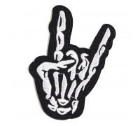 Antsiuvas medžiaginis Rock N Roll, 5.6x8.2cm