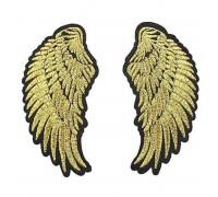 Antsiuvas medžiaginis Auksiniai sparnai, 4.7x9.4cm