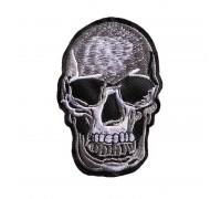 Antsiuvas medžiaginis Kaukolė, 9x6cm