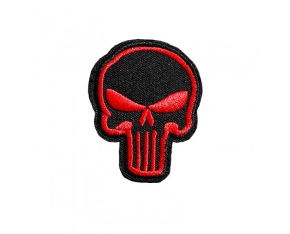 Antsiuvas medžiaginis Red Skull, 6.2x5cm