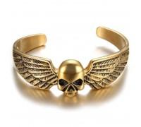 Apyrankė Skull Wings Gold; universalaus dydžio