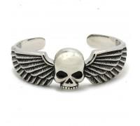 Apyrankė Skull Wings Silver; universalaus dydžio