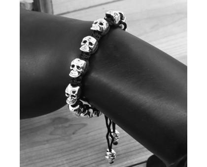 Apyrankė pintos virvės Horizontal Skull, universalaus dydžio