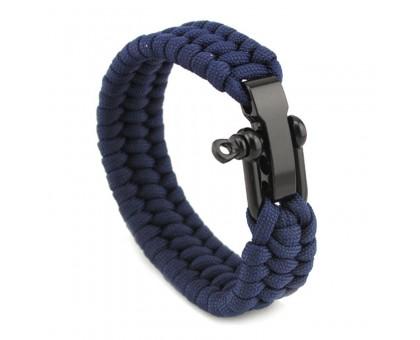 Apyrankė pintos virvės Paracord Blue; 21-23cm