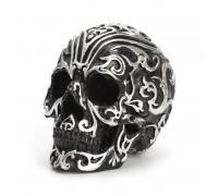 Dekoracija 3D kaukolė Calavera Medium Black; 14x12x10cm