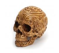 Dekoracija 3D kaukolė Calavera Medium Brown; 14x12x10cm