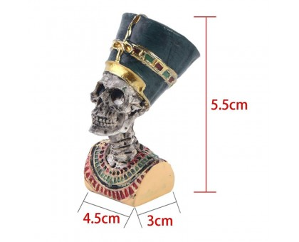 Dekoracija kaukolė Faraonas; 5.5x4.5x3cm