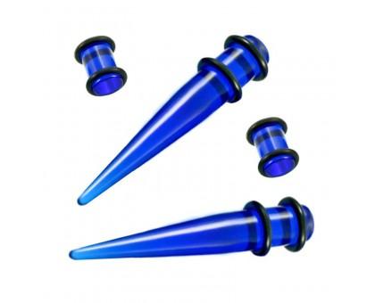 Ausų tunelių išplėtėjų rinkinys Spike Blue; 4mm, 5mm, 6mm, 8mm, 10mm
