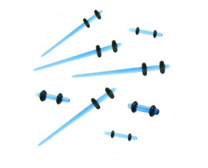 Ausų tunelių išplėtėjų rinkinys Spike Start Blue; 1.6mm-3.2mm