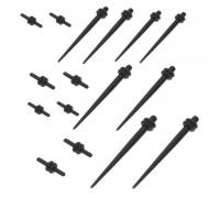 Ausų tunelių išplėtėjų rinkinys Spike Start Black; 1mm-3mm