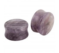 Auskarai tuneliai Stone Purple 2vnt; 6mm, 8mm, 10mm, 12mm, 14mm