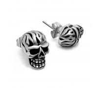 Auskarai Fire Skull, 2 vnt