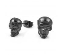 Auskarai Black Skull, 2 vnt