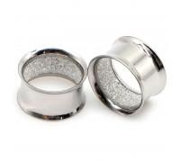 Auskarai tuneliai Shine Silver, 2vnt; 8mm, 10mm, 12mm, 14mm