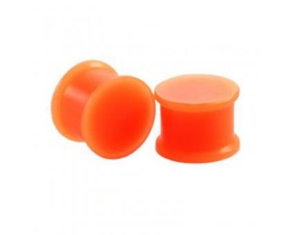 Auskarai tuneliai silikoniniai kamščiai Orange Plug, 2vnt; 4mm, 6mm, 10mm, 14mm