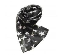 Skarelė šalikas Black Stars; 150x45cm