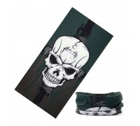 Bandana kaklaskarė Green Skull, universalaus dydžio