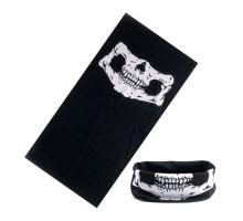 Bandana kaklaskarė Juoda Kaukolė, universalaus dydžio