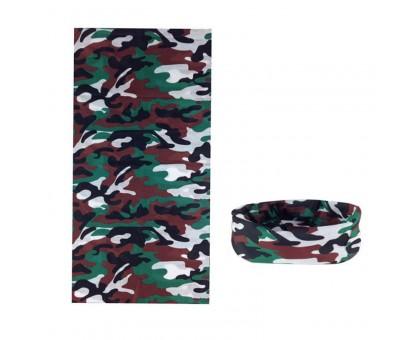Bandana kaklaskarė Rudas Kamufliažas, universalaus dydžio