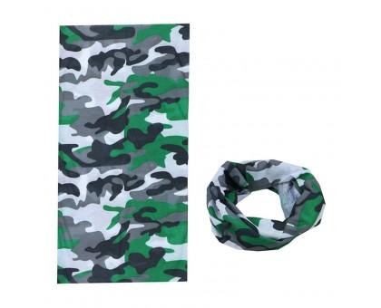 Bandana kaklaskarė Žalias Kamufliažas, universalaus dydžio