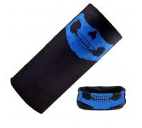Bandana kaklaskarė Mėlyna Kaukolė, universalaus dydžio