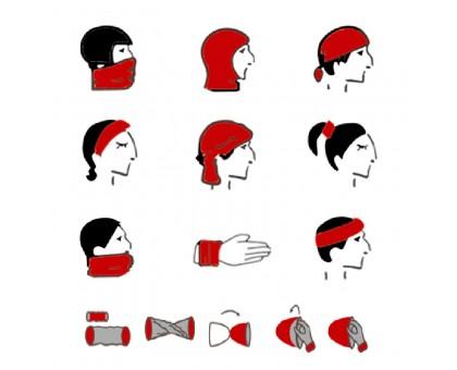 Bandana kaklaskarė Colored Stripes, universalaus dydžio