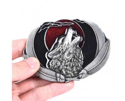 Sagtis diržui Wolf Red; 9.4x6.8cm