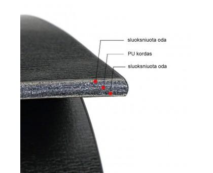 Diržas odinis diržas be sagties Classic Black; 120cm