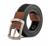 Diržas medžiaginis ZDL Black-Grey, 110cm