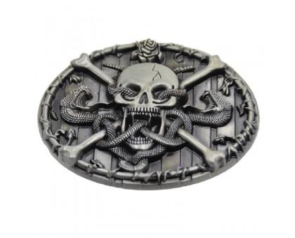 Sagtis diržui Skull and Snakes; 8x6.2cm