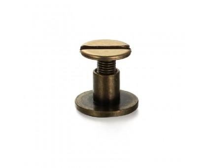 Kniedė srieginė bronzos spalvos; 9.0x6.5mm
