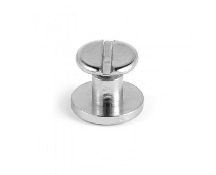 Kniedė srieginė sidabro spalvos; 9.0x6.5mm