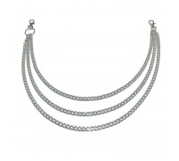 Kelnių grandinė Triple Silver Chain sidabro spalvos, 50/55/60cm