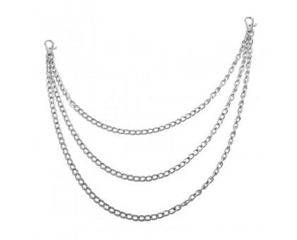 Kelnių grandinė Triple Simple Chain sidabro spalvos, 30/40/50cm