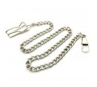 Kelnių grandinė Mini Chain sidabro spalvos; 31cm