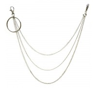 Kelnių grandinė Big Ring Triple Simple Chain sidabro spalvos; 40/50/60cm