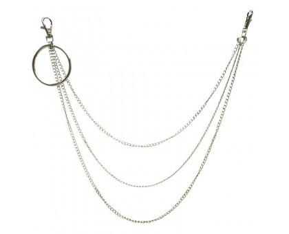 Kelnių grandinė Big Ring Triple Simple Chain sidabro spalvos, 40/50/60cm