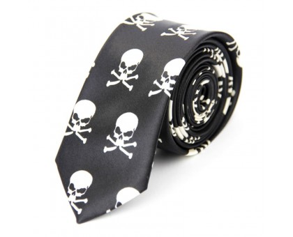 Kaklaraištis Skull Rodger Black