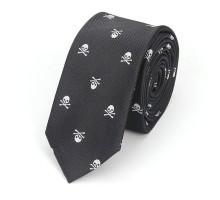 Kaklaraištis Skull Black White