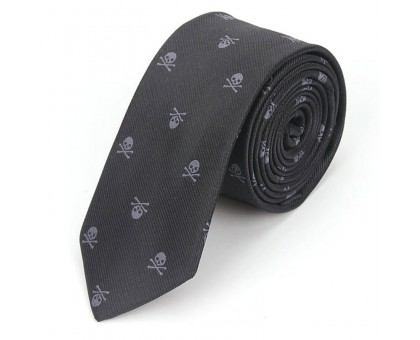Kaklaraištis Skull Black Grey