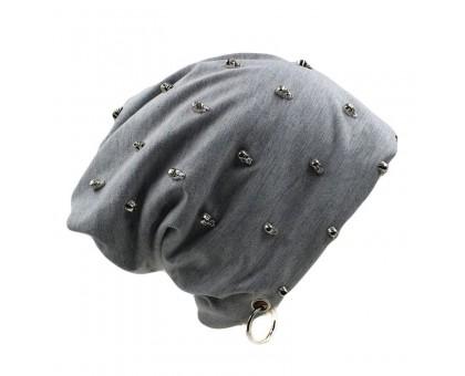 Kepurė Grey Skulls, universalaus dydžio