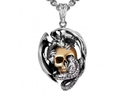 Kaklo papuošalas Immortality Skull; 30x25mm