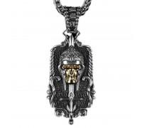 Kaklo papuošalas Riteris Skull; 30x15mm