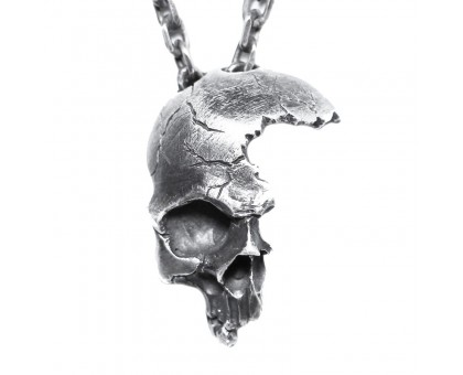 Kaklo papuošalas Oxygene Skull, 32x24mm