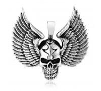 Kaklo papuošalas Skull Wings, 4.8x5cm