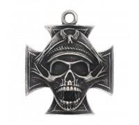 Kaklo papuošalas Skull Captain Cross, 3.7x3.7cm