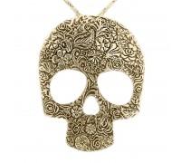 Kaklo papuošalas Big Skull Bronzos spalvos, 6x7.5cm