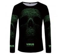 Marškinėliai ilgomis rankovėmis Virus; L, XL