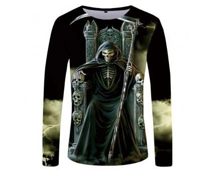 Marškinėliai ilgomis rankovėmis Giltinė soste; L, XL